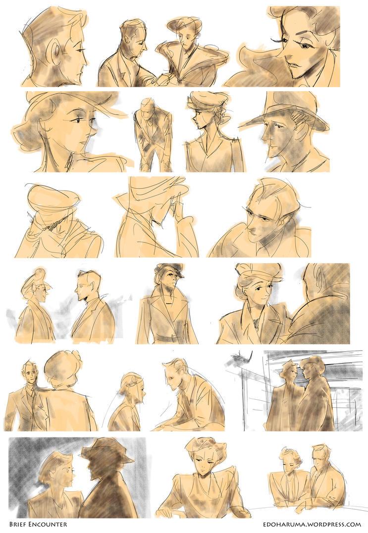 Brief Encounter (1945) Sketches by ...