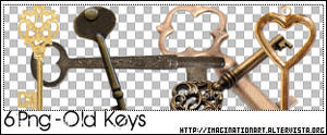 Old Keys PNG - set 16