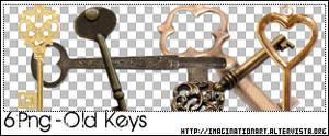 Old Keys PNG - set 16