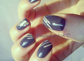 Nail ART - An hour to midnight