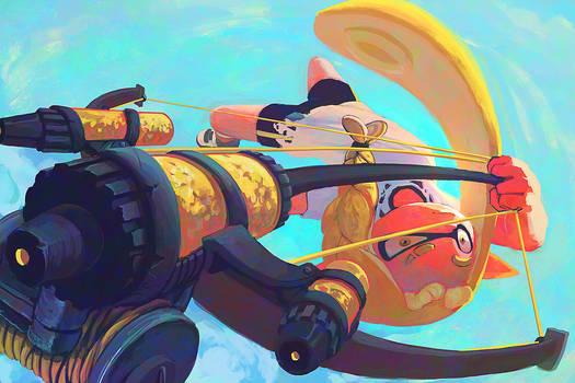aerial splon squid