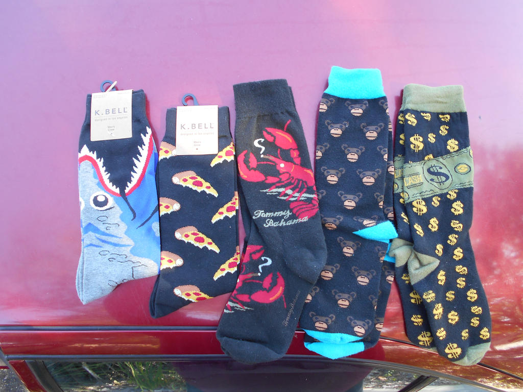 funky socks....long day... by Mindslave24-7