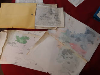 Vintage 1984, 1987 Kyrrion maps