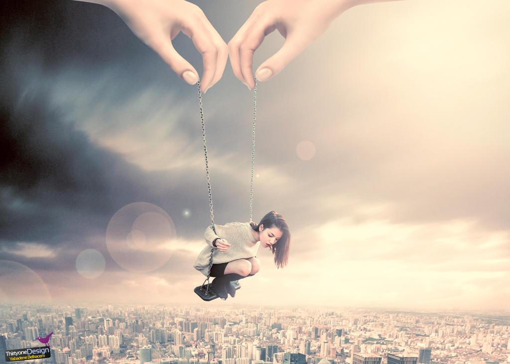 flying girl by belkas31