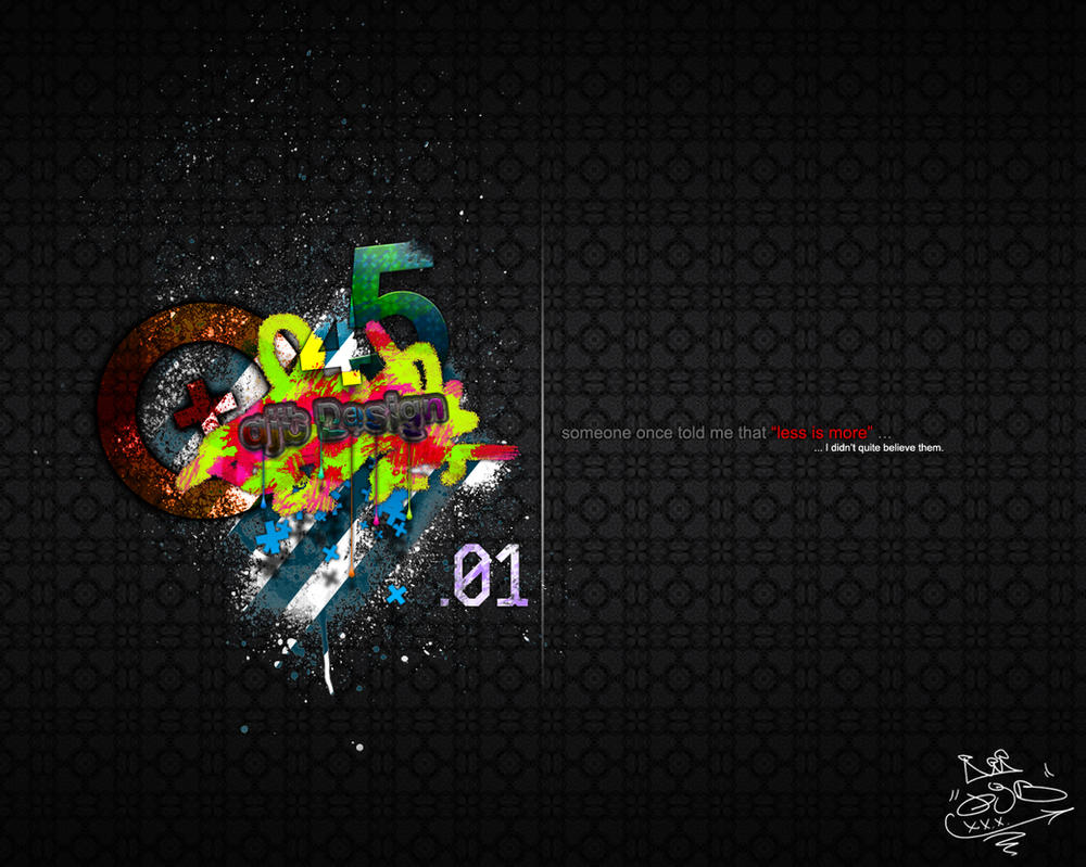 01 wallpaper 39 less is more 39 by bullbaz on deviantart for Wallpaper for less