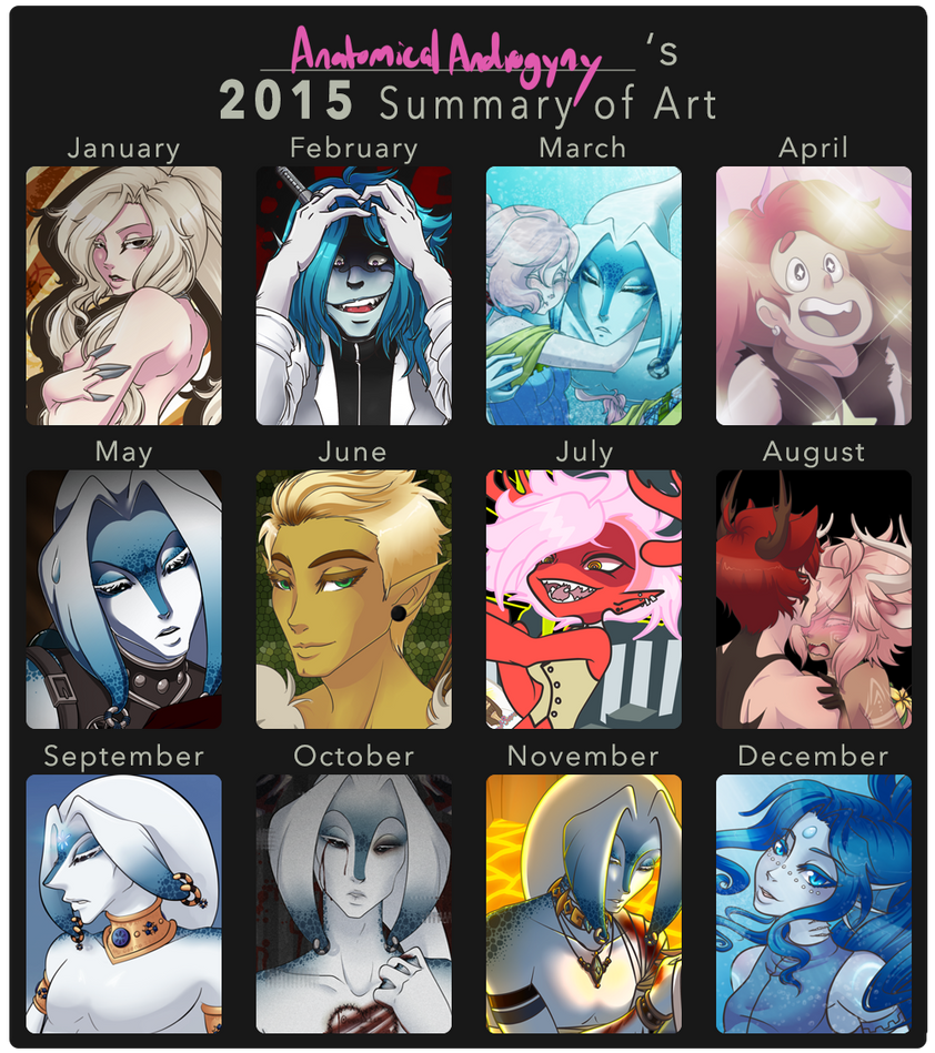 2015 Summary Of Art by AnatomicalAndrogyny