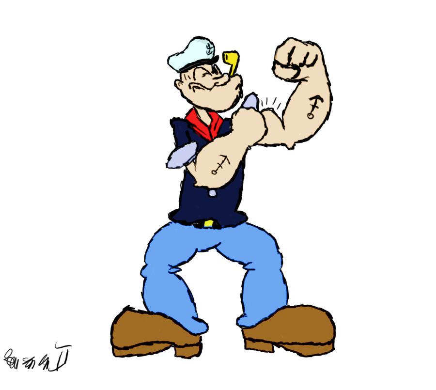 Popeye the Sailor Man by shawnguku