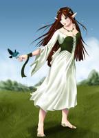 Elf Girl - Red Hair by Ranefea