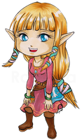 Chibi Skyloft Zelda by Ranefea