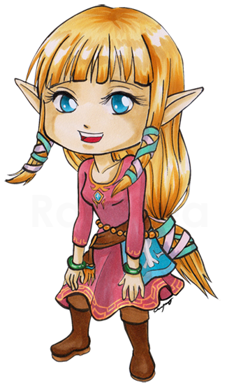 Chibi Skyloft Zelda by Ranefea