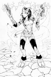 Commission: Valliaa - Draenei Shaman by Ranefea