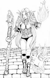 Commission: Teishara - Night Elf Mage by Ranefea
