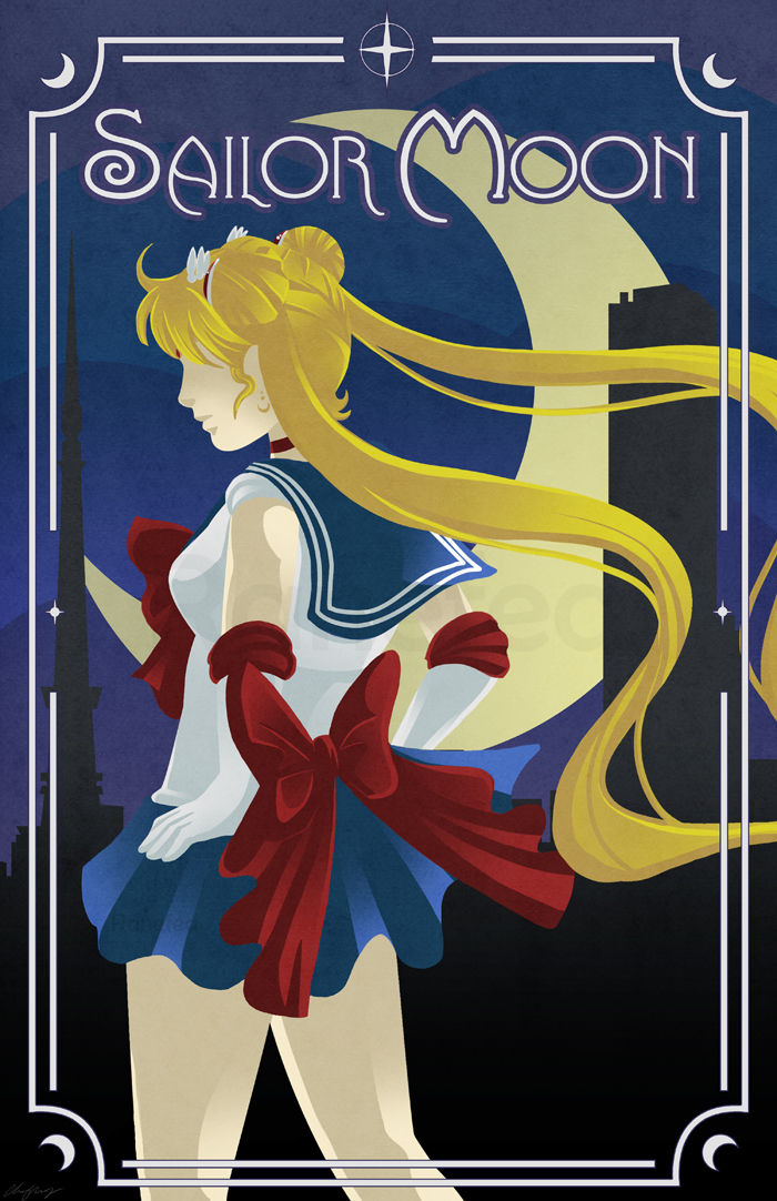 Art Deco Sailor Moon By Ranefea On Deviantart