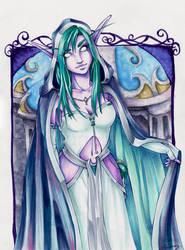 Night Elf Priestess by Ranefea