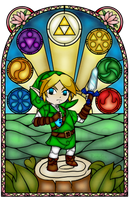 Ocarina of Time Stained Glass by Ranefea