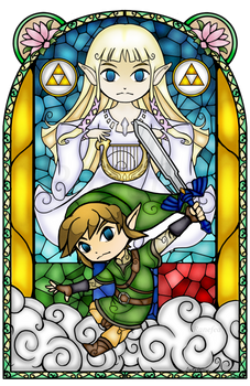 Skyward Sword Stained Glass