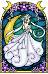 Princess Serenity Stained Glass