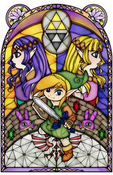 A Link Between Worlds Stained Glass by Ranefea