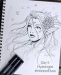 Inktober Elves Day 05 - Hydrangea