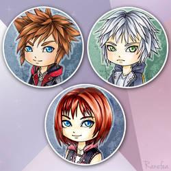 Kingdom Hearts III Chibis by Ranefea