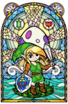 Link's Awakening Stained Glass by Ranefea