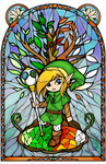 Oracle of Seasons Stained Glass by Ranefea