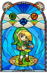 Oracle of Ages Stained Glass