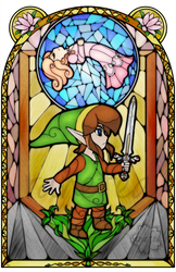 Adventure of Link Stained Glass
