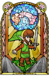 Adventure of Link Stained Glass by Ranefea