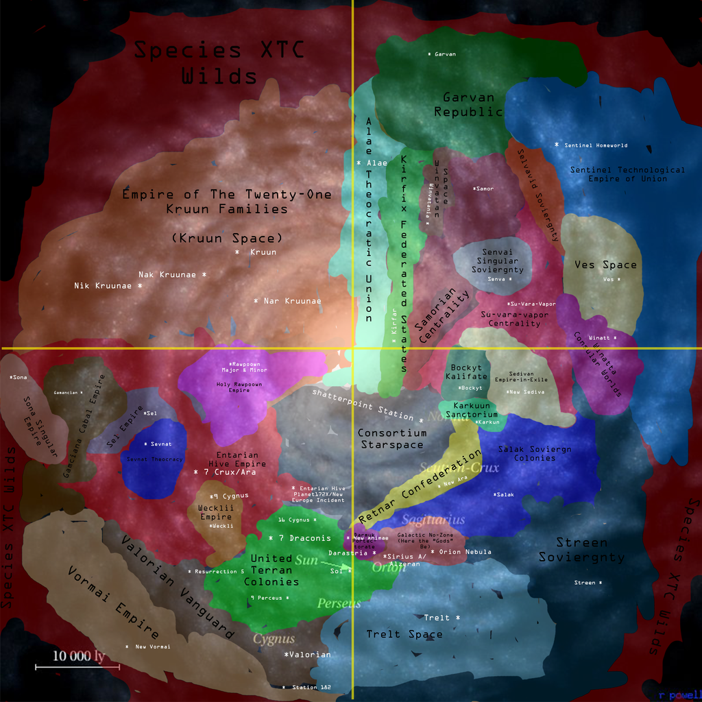 Galaxy Map in Drake's Time by WarlordDarnell on DeviantArt