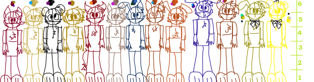 Calendar Typography Height : Fnaf height chart full design nightmares by