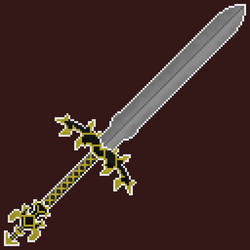 Gold Pixel Art Sword by Kuroktos