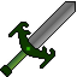 Green Pixel Art Sword by Kuroktos