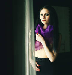 Skin with violet scarf by NathashahMMM