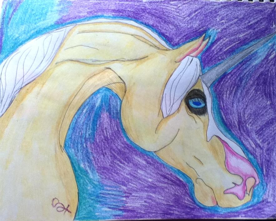 Palomino unicorn by Lycondemon