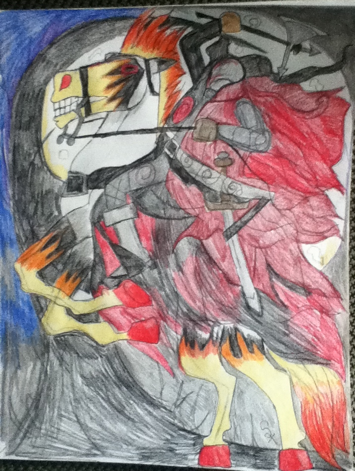 Sparky and The headless horseman by Lycondemon
