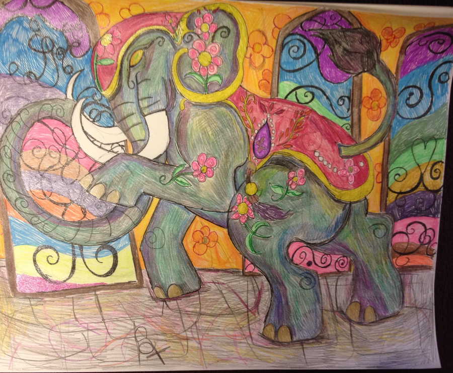Elephant for TheFriendlyElephant contest by GypsyLycan