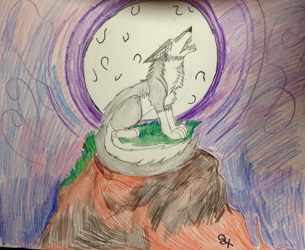 Howling in the moonlight AT with sketch-wild by GypsyLycan