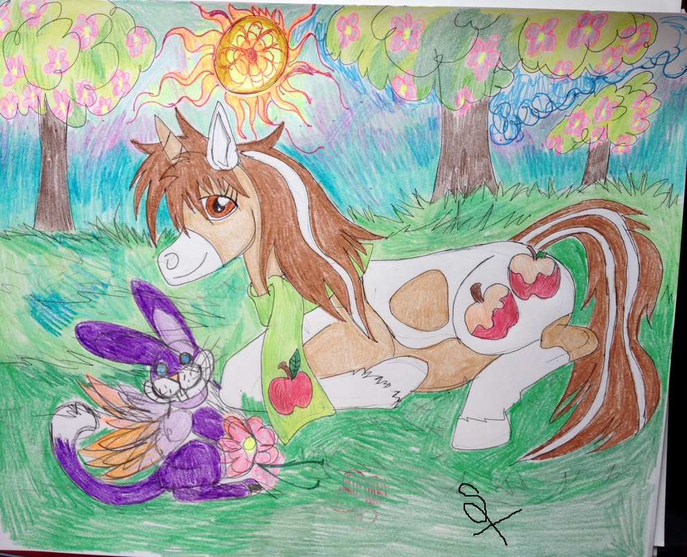 Sandy enjoying a nice Spring day by GypsyLycan