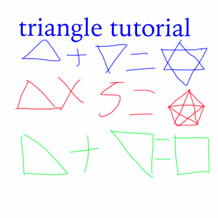 triangle tutorial by laserdogbad
