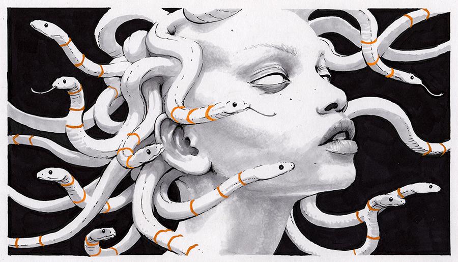 Writhe (Medusa) by ConejoBlanco
