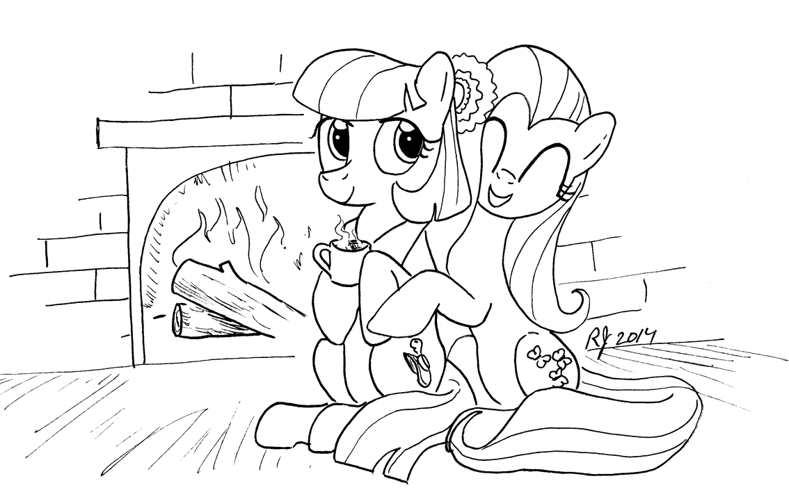 EQD NATG IV Day 12:Fluttershy with Coco with Cocoa by ArrJaySketch