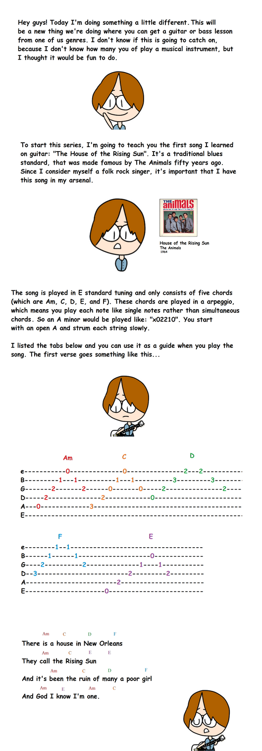 Guitar Lesson 1 By Tennishero On Deviantart