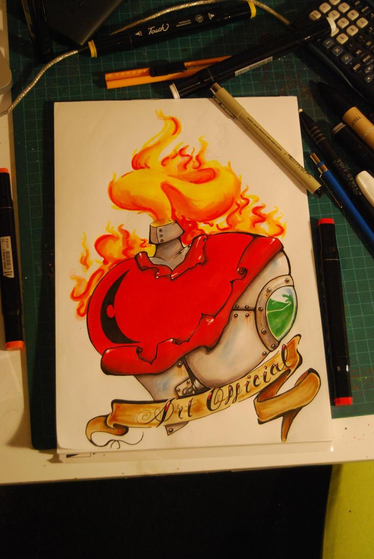 ArtOfficial Heart - chest tattoo