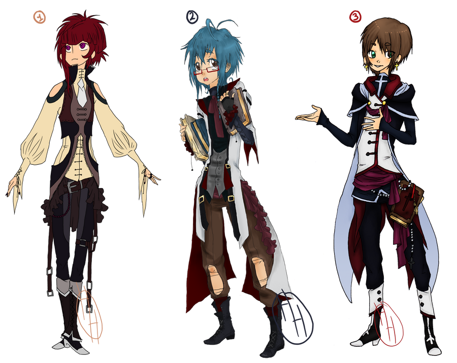 [CLOSED] Old Designs - Fancy Boys ~ AUCTION by hoothoo