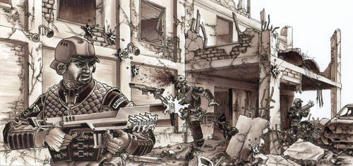 Imperial Grunts In Action!! by grendeljd