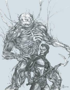 Shadowman and Mr Twist [from Valiant comics]