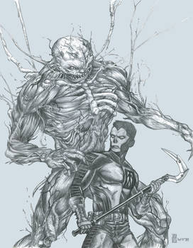 Shadowman and Mr Twist [from Valiant comics] by grendeljd