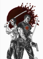 Bloodshot and RAI - with colour splash by grendeljd