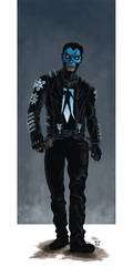 Shadowman Character RE-design for Project:Rooftop by grendeljd
